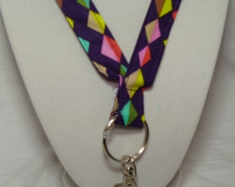 Colorful Diamonds Lanyard