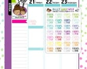 Family Time Planner Stickers | Fits Erin Condren, InkWELL Press, The Happy Planner, etc | Family Stickers | 127
