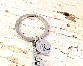 Eiffel Tower Keychain  Landmark Keychain  Paris Keychain  France Souvenir Keychain  Eiffel Tower Purse Charm  Travel Abroad Gift  PSDPlanner
