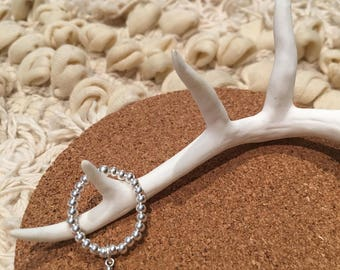Sterling Silver Ring - Wishbone Charm
