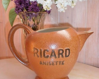 french Bistrot jug ceramic Ricard Anisette Made in France / / / Bistro/collection / / Ricard