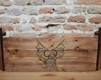 Folding Wooden Dungeon Master Screen with shelves, RPG Games, Table Top Games, Dungeons and Dragons, Beholder, Screen, Dice Games,