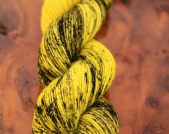 "Hand Dyed ""Caution Tape"", DK, Super Wash Merino, Wool, Knitting, Crochet, Yarn"