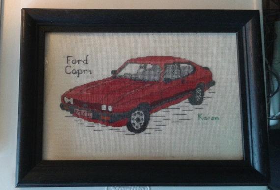Ford Capri Cross Stitch