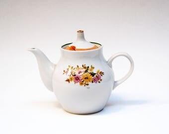 antique teapots porcelain teapot vintage teapot soviet porcelain two cup teapot Russian teapot ceramic teapot brewing teapot Tea Coffee Pot