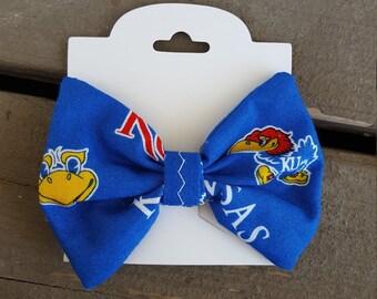Univeristy of Kansas Hair Bow - KU Jayhawks