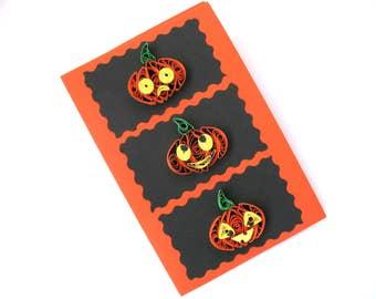 Halloween Orange pumpkins Card, Happy Halloween Card