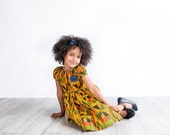 Kente Peasant Dress, Black History Month, Baby Dress, Girls Dress, Hipster, Bohemian, Tribal, African Baby Clothes, African Clothing