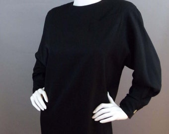 Sale Vintage Italy Gianfranco Ferre black dress