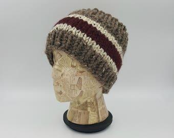 Hand Knit Headband, Ear Warmer, Winter Accessory, Hand Knit, Striped Headband, Wide Headband, Gift for Women, Acrylic, Wool, Hair Band