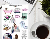 Pampering Me Time Planner Stickers | Rest Relaxation Stickers | Self Care Stickers (S-236)