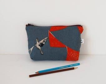pouch pencil crayons school case bag box bird bag