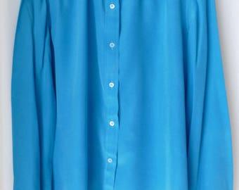 Blouse sheer silk Lanvin vintage - size 44 - Size XL