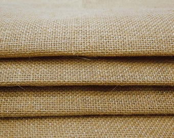 """Indian Fabric, Natural Fabric, Beige Burlap, Home Decor Fabric, Rustic Fabric, Sewing Crafts, 52"""" Inch Burlap Fabric By The Yard ZJC21A"""
