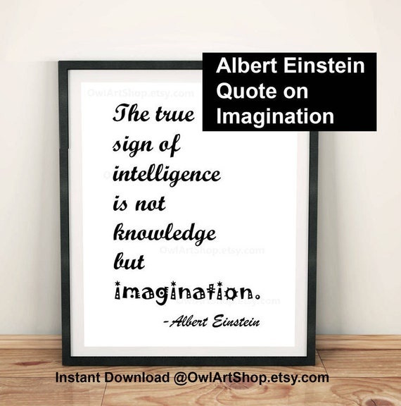 inspirational quote albert einstein the true sign of