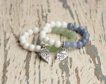 friendship bracelet matching jewelry best friend bracelet BFF gift for friends bracelet set couple bracelets beaded charm friends forever