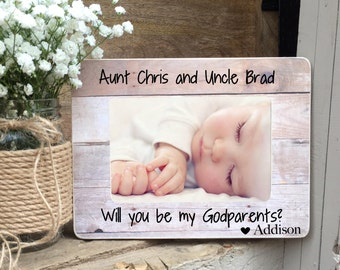 Will you be my Godmother frame Will you be my Godparent Frame Personalized Picture Frame