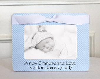 New Grandma New Grandparent's Gift Grandmother Grandfather Grandchild  Personalized Custom Picture Frame  Gift