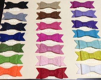 FELT BOW Headband + FELT Bowtie Hair Clips: 21 Colors Buy Single or Sets Newborn Baby Girl Headband + Toddler Hair + Small Felt Bow Barrette
