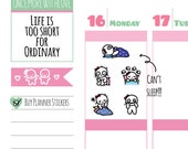 Munchkins - Insomnia I Can't Sleep! Planner Stickers (M223)