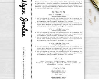Creative Resume Template | Resume for Word & Pages | Resume Template Instant Download | CV Template | Resume Template Pages | Resume Word