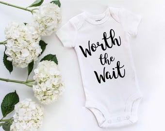 worth the wait onesie newborn onesie coming home hospital outfit girl baby girl clothes new baby girl going home outfit cute baby clothes