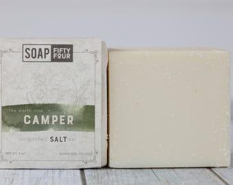 Camper Soap | Citronella Soap | Salt Bar | Cedarwood Soap | Patchouli Salt Bar | French Green Clay Soap | Outdoor Soap | Soap for Hikers