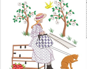 ANNE of green gables machine embroidery download 3 diff sizes ( 5x5   6x6  7x7)