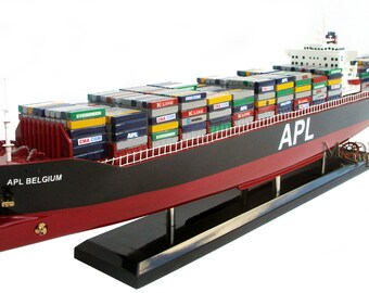 APL Belgium Container Ship Handcrafted Display Model