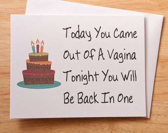 Boyfriend gift etsy vagina card birthday card naughty card dirty card card for boyfriend negle