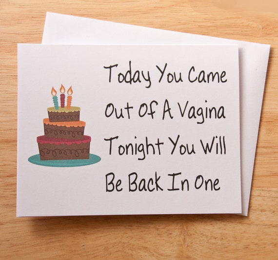 Birthday Card Naughty Card Dirty Card Card For by