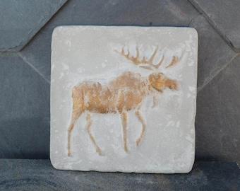 Concrete decorative tile Moose / reindeer