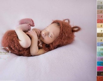 Newborn fox romper and bonnet| Newborn fuzzy props| Newborn fox  set| Newborn fox set|  Newborn fox bonnet | Fox newborn prop