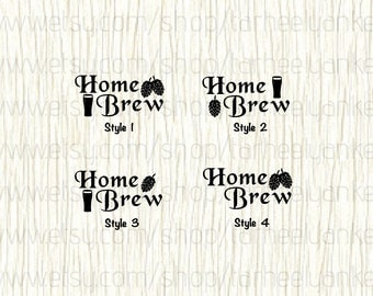 Home Brew Car Decal,  Craft Beer Car Decal, Home Brewing Decal, Hops Brew Decal, Microbrew Car Decal, Hops Decal, Beer Decal,Drinking Decal