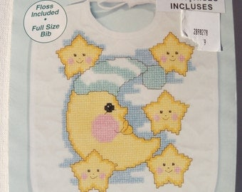 Janlynn Neat and Nifty Moon and Stars Bib Kit