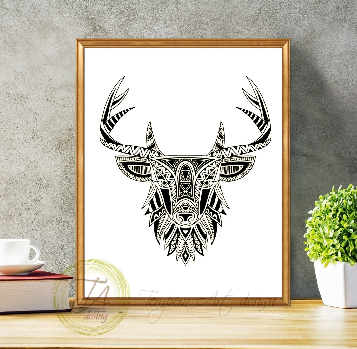 Black And White Wall Art black and white prints black and white art deer black and