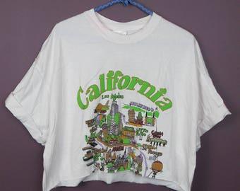 Reworked Vintage California Map Tee
