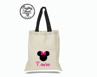 Minnie Mouse tote bag, Minnie bag, Disney tote  bag, Disney  bag, Minnie Mouse Party favors