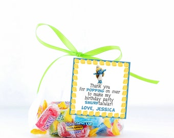 Smurf Favor Tags, Smurfette Birthday Party Thank you tags, Smurf Birthday Party, Thank You tags