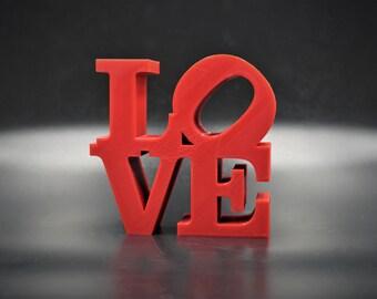 Love Word Sculpture 3D Printed