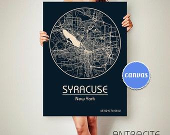 SYRACUSE New York CANVAS Map Syracuse New York Poster City Map Syracuse New York Art Print Syracuse New York poster Syracuse New York