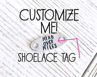 Runner Gift - Customized Shoe Tag - Running Accessory - Funny Runner Gift - Shoe Accessory - Shoelace Tag