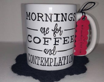 Stranger Things Mug - Mornings Are For Coffee And Contemplation Mug - Custom Mug - Mouth Breather - The Upside Down - Stranger Things Gift
