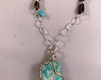 Turquoise & Leather Necklaces