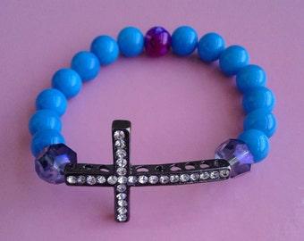 Women's Blue Cross bracelet