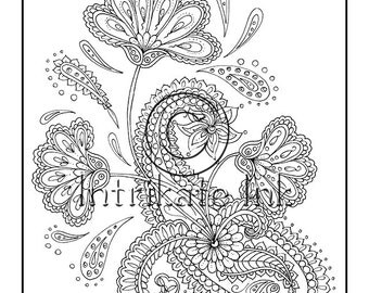 paisley coloring pages peace - photo#10