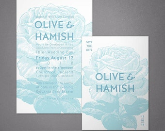 Olive Invitation Set - Printable Digital Files