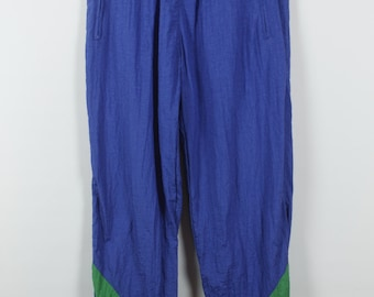 Vintage trousers, 90s clothing, track, blue, vintage sportswear