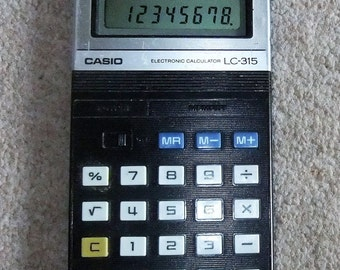 Casio Electronic Calculator LC-315 vintage 1980