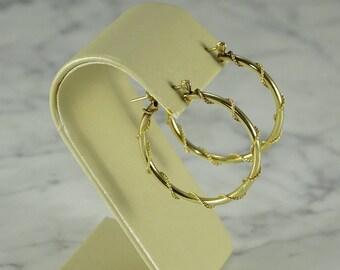14K Yellow Gold Hoops (pierced)